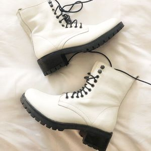 Urban Outfitters Shoes - Urban Outffiters Genuine Leather Combat Boots